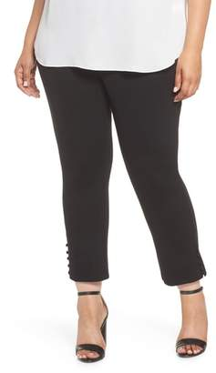 Sejour Ponte Button Detail Ankle Pants