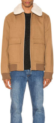 A.P.C. Bronze Jacket in Beige | FWRD