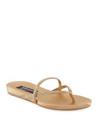 3027453a12d2 Pedro Garcia Giulia Crystal Strappy Flat Thong Slide Sandal