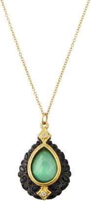 Armenta Old World Chrysoprase Cluster Pendant Necklace