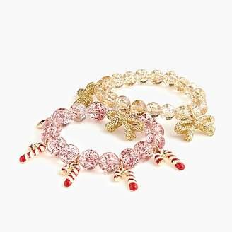 J.Crew Girls' gumball bracelet two-pack