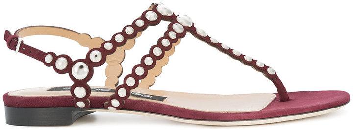 Sergio Rossi studded sandals