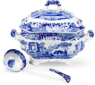 Spode Blue Italian Soup Tureen and Ladle