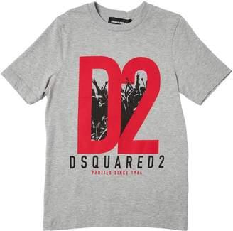 DSQUARED2 D2 Print Cotton Jersey T-Shirt