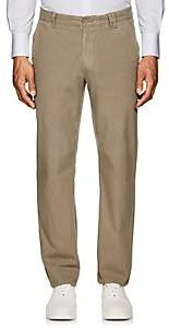 Barneys New York MEN'S COTTON SLIM CHINOS-DK. GREEN SIZE 36