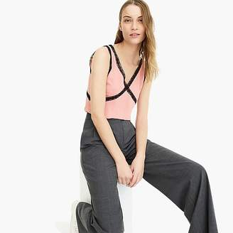 J.Crew V-neck camisole with lace inserts