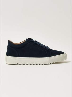 Topman Mens Navy Suede Astro Lace Trainers