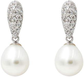 Gift Box Silver Pearl Earrings