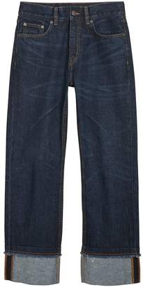 Burberry Relaxed Fit Marble-wash Jeans