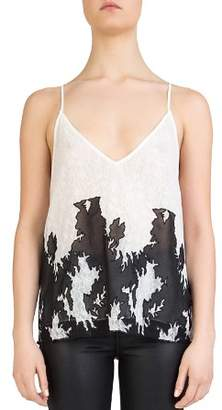 The Kooples Mesh-Inset Lace Cami