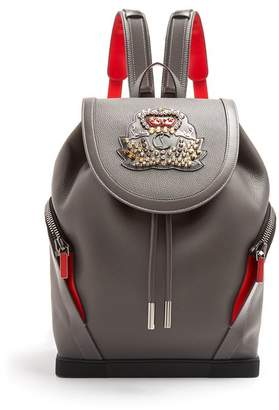 Christian Louboutin Explorafunk Stud Embellished Backpack - Mens - Grey