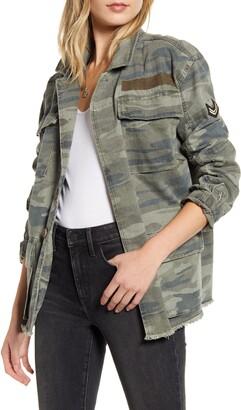 Treasure & Bond Patch Detail Camo Cotton Jacket