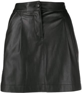 Patrizia Pepe faux-leather mini skirt
