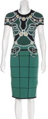 Mary Katrantzou Embellished Intarsia Dress w/ Tags