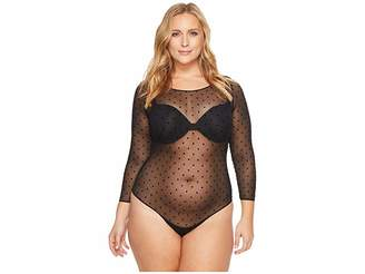 Spanx Plus Size Sheer Long Sleeve Bodysuit