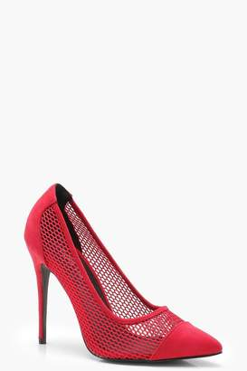 boohoo Mesh Detail Court Shoes