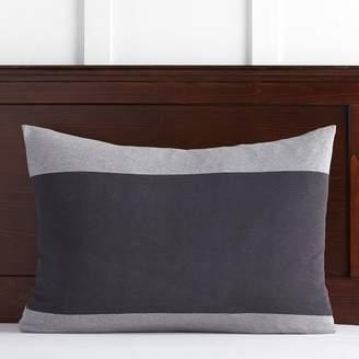 Pottery Barn Teen Bold Stripe Favorite Tee Sham, Standard, Heathered Gray/Charcoal