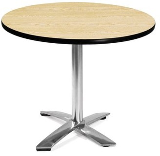 "OFM Model FT36RD 36"" Round Flip-Top Multi-Purpose Table, Oak"