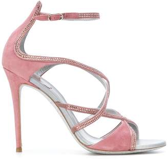 Rene Caovilla crisscross sandals