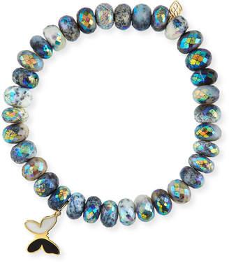 Sydney Evan 14k Enamel Butterfly & Opal Bracelet
