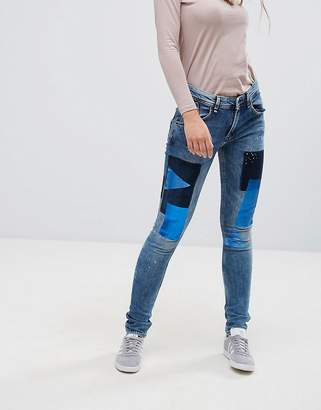 Pepe Jeans Stencil Holographic Patch Boyfriend Jeans