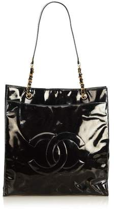 Chanel Vintage Patent Leather Chain Tote Bag