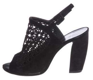 Pierre Hardy Suede Cutout Sandals