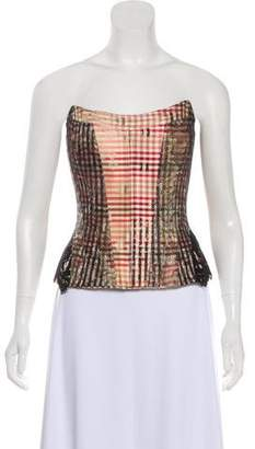 Christian Lacroix Silk & Lace Top