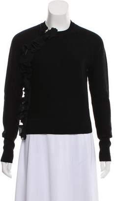 3.1 Phillip Lim Ruffle-Accented Crew Neck Sweater