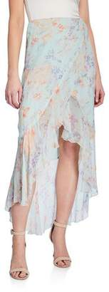 Alice + Olivia Caily Ruffled Mock Wrap Skirt