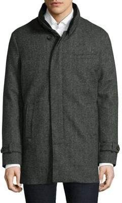 Norwegian Wool Herringbone Wool& Cashmere Carcoat