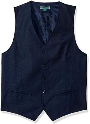 Cubavera Men's Easy Care Linen-Blend Vest