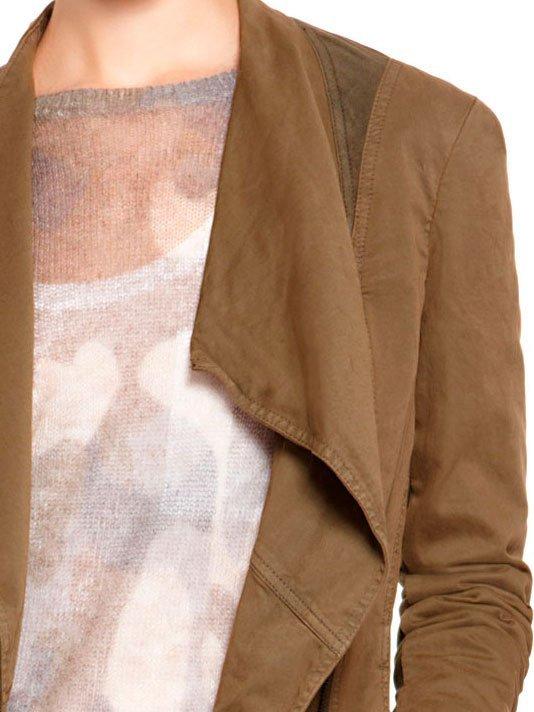 DKNY DKNYpure Zip Front Jacket