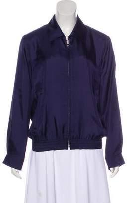 Prada Silk Zip-Up Jacket