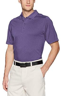 Cutter & Buck Men's Moisture Wicking Textured Cascade Melange Stripe Polo Shirt