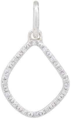 Monica Vinader Silver Diamond Kite Pendant