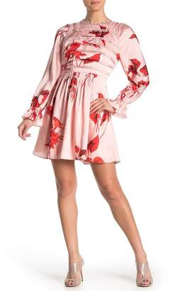 Ted Baker Malaani Fantasia Long Sleeve Minidress