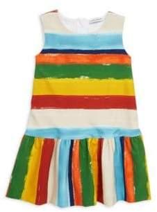 Dolce & Gabbana Toddler's, Little Girl's& Girl's Stripe Pleat Dress