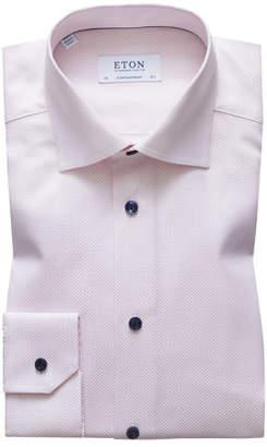 Eton Men's Contemporary Fit Textured Solid Dress Shirt