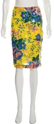 Diane von Furstenberg Sequin Knee-Length Skirt