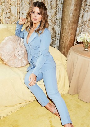 92136e101aac Missy Empire Missyempire Anita Blue Belted Suit