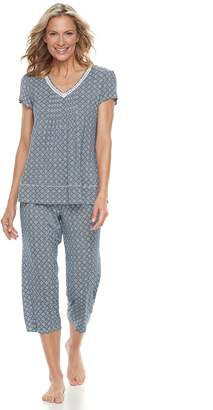 Croft & Barrow Women's Printed Tee & Capri Pajama Set