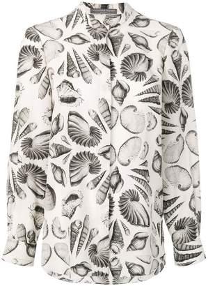 Alexander McQueen shell print silk shirt