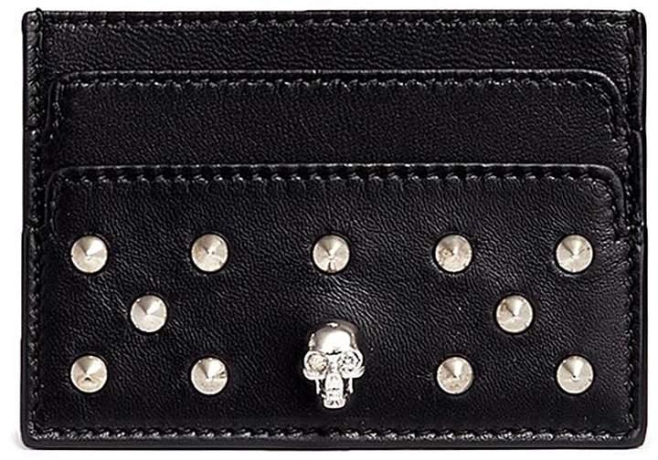 Alexander McQueenAlexander McQueen Skull stud leather card holder