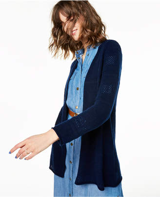 Charter Club 100% Cashmere Pointelle Cardigan