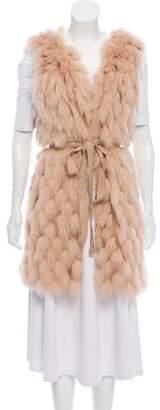 J. Mendel Belted Fox Fur Vest