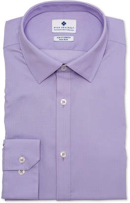 Ryan Seacrest Distinction Men's Ultimate Active Slim-Fit Non-Iron Performance Stretch Lavender Square Dot Dress Shirt, Created for Macy's