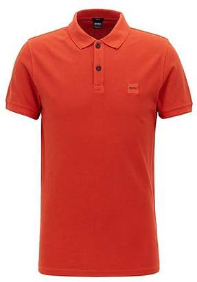 HUGO BOSS Slim-fit polo shirt in washed cotton piqué dde6394152167
