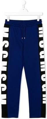 MSGM TEEN logo print track pants