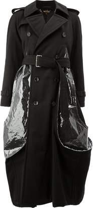 Comme des Garcons bubble trench coat with clear plastic details